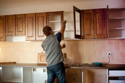 Cabinet refinishing by Exceptional Painting